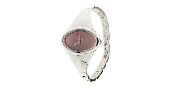 Dámske oceľové hodinky Oxbow s ružovým ciferníkom