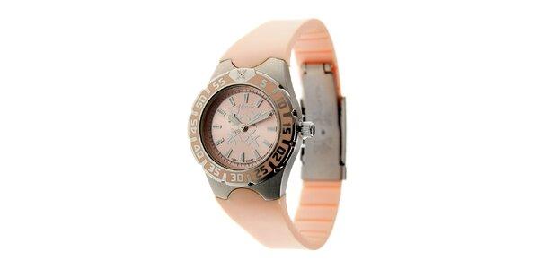Dámske ružové hodinky Oxbow s gumovým remienkom