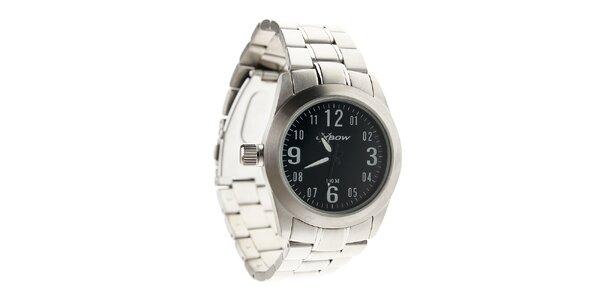 Dámske oceľové hodinky Oxbow s čiernym ciferníkom
