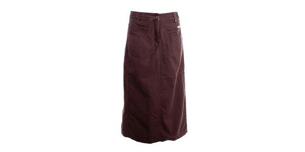 Dámska dlhá hnedá sukňa Bushman