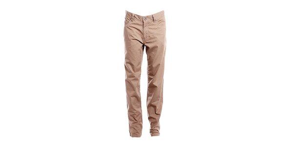 Dámske orechovo hnedé nohavice Bushman