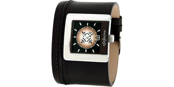 Dámske hnedé analogové hodinky Oxbow