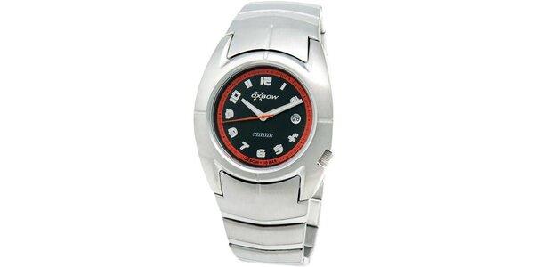 Pánske oceľové analogové hodinky Oxbow