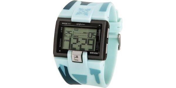 Pánske športové digitálne hodinky Oxbow s modrým remienkom