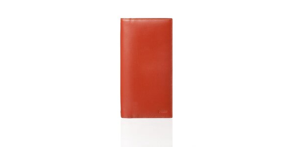 Dámská tehlovo červená kožená peňaženka Gianfranco Ferré