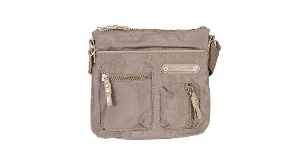 Šedo-béžová taška cez rameno Diesel