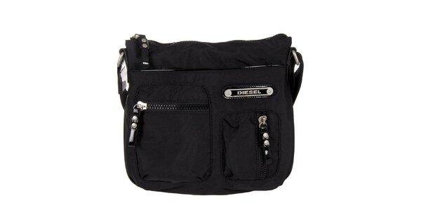 Čierna taška cez rameno Diesel