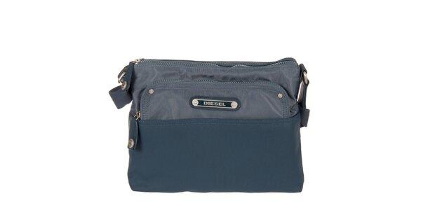 Modrá obdĺžniková taška Diesel