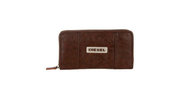 Dámska gaštanovo hnedá peňaženka Diesel