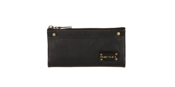 Dámska čierna kožená peňaženka Diesel