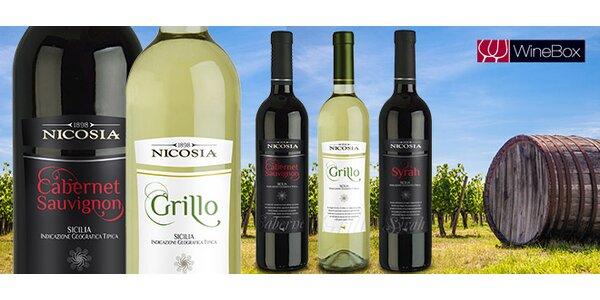Dve sicílske vína podľa výberu
