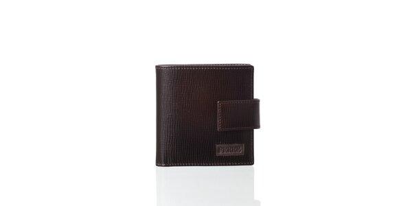 Tmavo hnedá kožená peňaženka Gianfranco Ferré