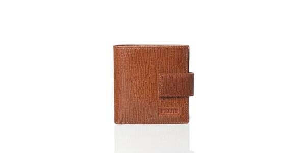Karamelovo hnedá kožená peňaženka Gianfranco Ferré