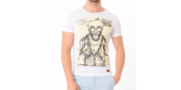Pánske biele tričko s potiskom Wessi