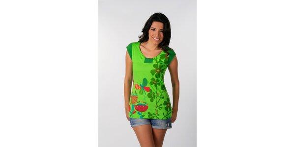 Dámske svietivo zelené tričko s potiskom Avispada