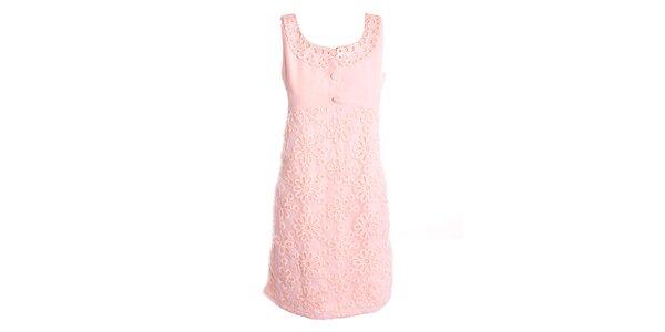 Dámske ružové šaty s kvetinami Yumi