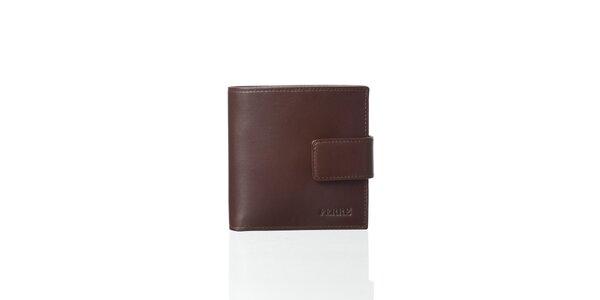 Ebenovo hnedá kožená peňaženka Gianfranco Ferré