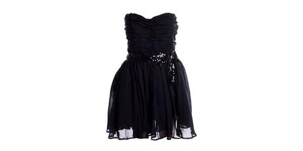 Dámske korzetové čierne šaty Yumi