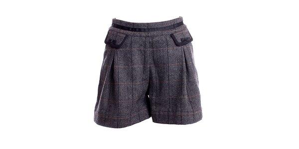 Dámske šedé kárované šortky Yumi