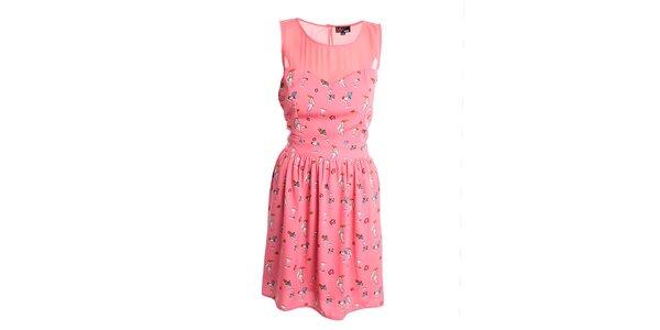 Dámske korálové šaty Yumi