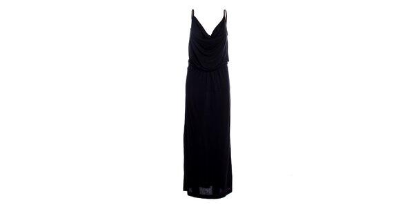 Dámske čierne dlhé šaty Miss Sixty