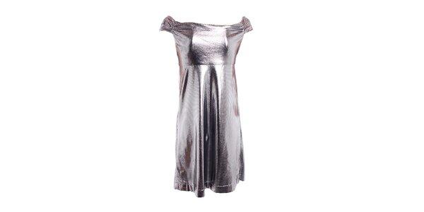 Dámske strieborné šaty Miss Sixty