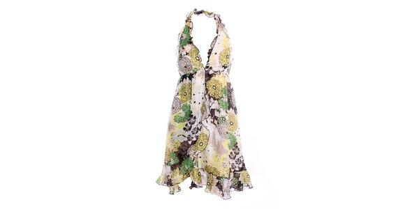 Dámske letné šaty so zeleným vzorom Miss Sixty
