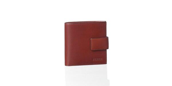Gaštanovo hnedá kožená peňaženka Gianfranco Ferré