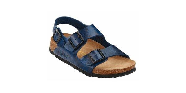 Modré metalické sandále Papillio