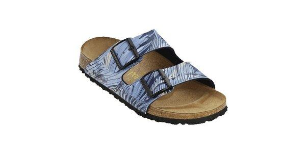 Dámske modré zebrované papuče Papillio