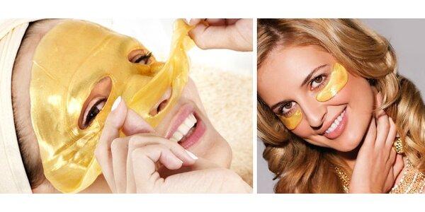 2 luxusné kolagénové 24-karátové zlaté masky na tvár + 4 páry kolagénovej masky…