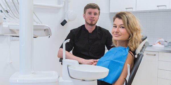 Vyšetrenie, dentálna hygiena a bielenie zubov