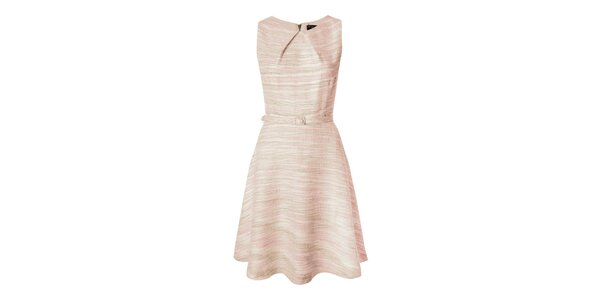 Dámske ružové retro šaty s opaskom Fever