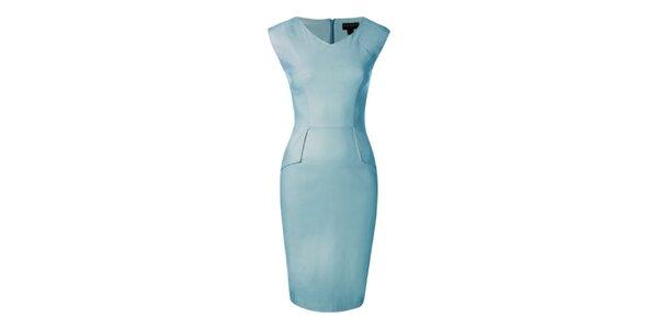Dámske nebesky modré púzdrové šaty Fever
