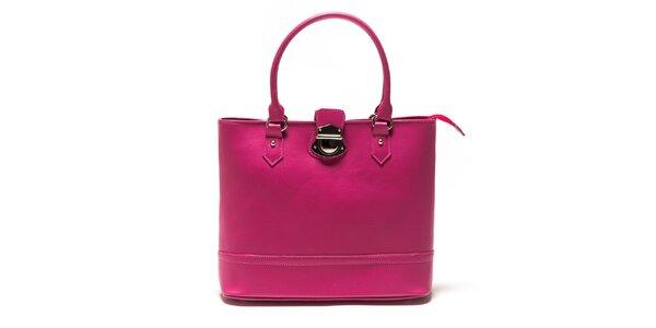 Dámska fuchsiová kabelka so zámčekom Sonia Ricci