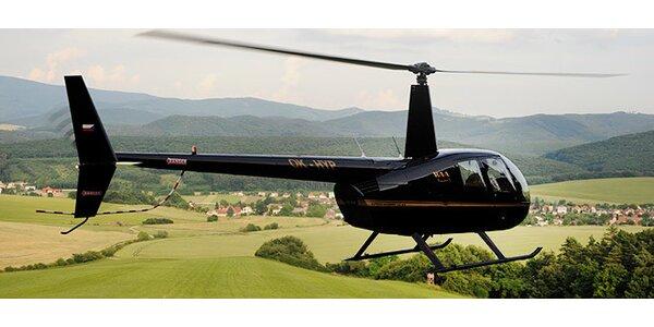 Pilotom vrtuľníka na skúšku. Skvelý darček na Vianoce