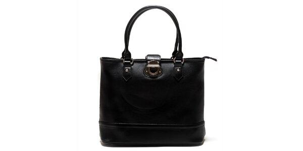 Dámska čierna kabelka so zámčekom Sonia Ricci