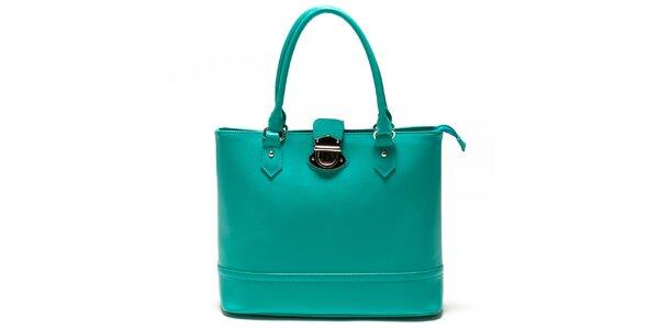 Dámska tyrkysová kabelka so zámčekom Sonia Ricci