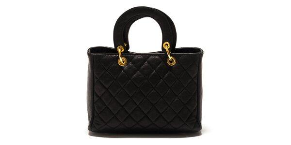 Dámska čierna prešívaná kabelka Sonia Ricci