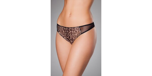 Dámske čierne leopardie tanga Roberto Cavalli