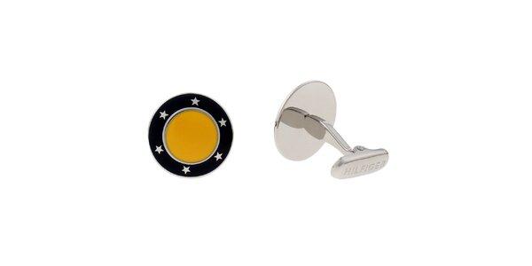 Dámské žlto-čierne manžetové gombíky Tommy Hilfiger