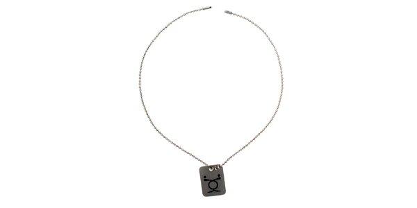Dámsky náhrdelník s obdĺžnikovým príveskom Emporio Armani