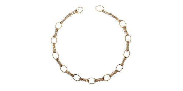 Dámsky zlatý náhrdelník s kruhmi Emporio Armani