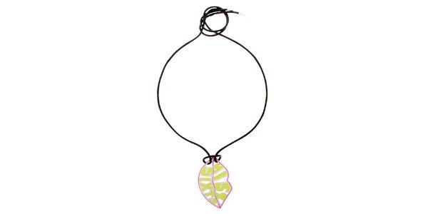 Dámsky náhrdelník so žltým príveskom Miss Sixty