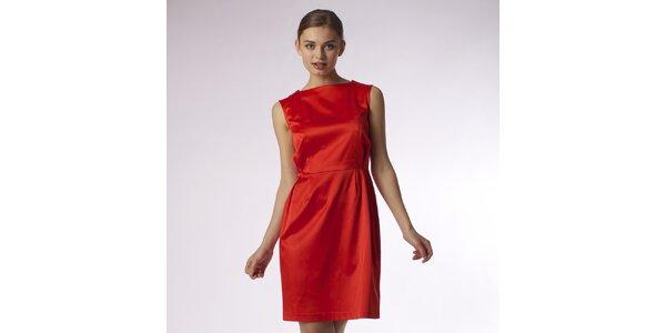 Dámske lesklé červené šaty Emploi