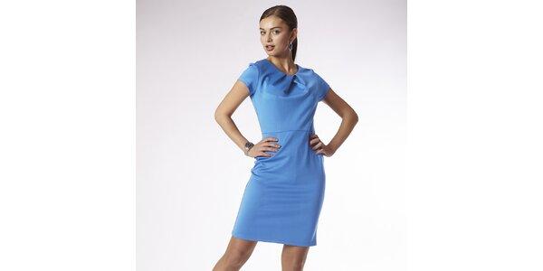 Dámske blankytno modré šaty Emploi