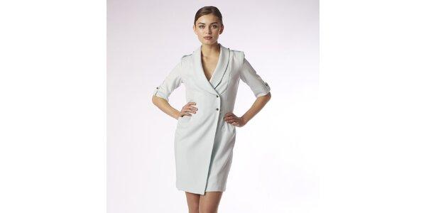 Dámske mentolové kabátové šaty Epmloi