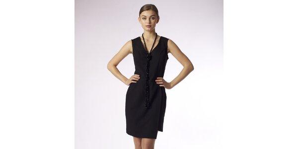 Dámske púzdrové šaty s výstrihom do V Emploi