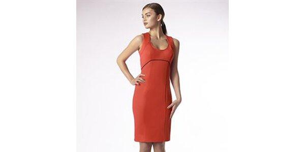 Dámske korálové púzdrové šaty Emploi