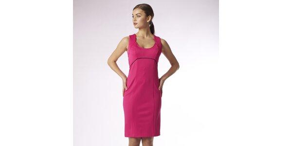 Dámske syto ružové púzdrové šaty Emploi